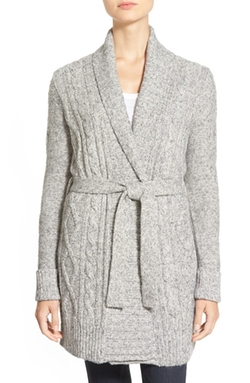 NYDJ - Belted Cable Knit Cardigan