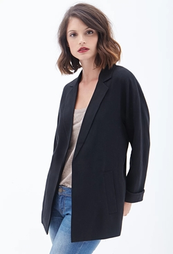 Forever21 - Contemporary Textured Boyfriend Blazer