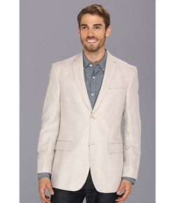 Perry Ellis  - Linen Cotton Herringbone Jacket