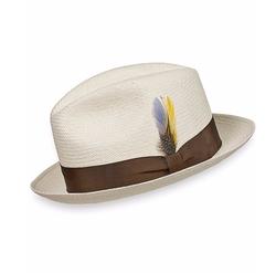 Paul Fredrick - Genuine Panama Straw Fedora Hat