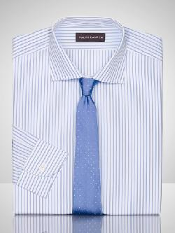 RALPH LAUREN BLACK LABEL - Striped Bond Dress Shirt