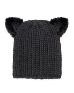Eugenia Kim  - Felix Fur-Trim Cat-Ear Skull Cap