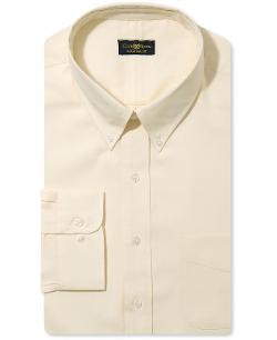 Club Room  - Dress Shirt, Big and Tall Estate Light Maize Shirt