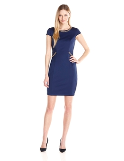 Sangria - Solid Sheath Dress