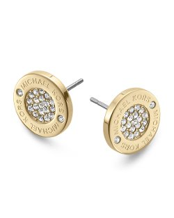 Michael Kors - Logo Pave Stud Earrings