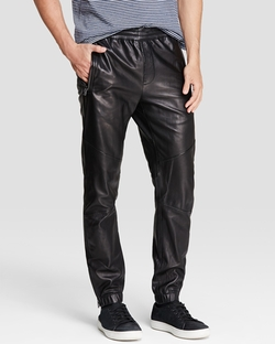 Vince - Leather Moto Jogger Pants
