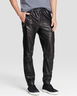 Vince - Leather Moto Jogger Pants