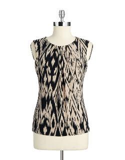 Calvin Klein - Print Sleeveless Blouse