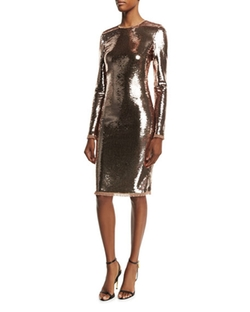 Tom Ford - Long-Sleeve Liquid Sequin Dress