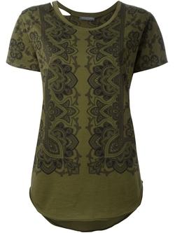 Alexander Mcqueen   - Paisley Print T-Shirt