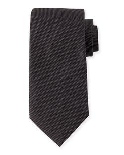 Giorgio Armani - Textured-Dot Silk Tie
