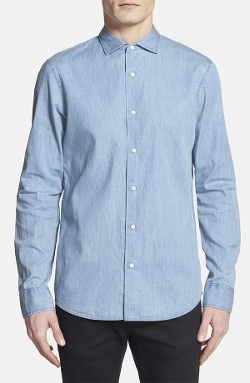 Michael Kors - Slim Fit Denim Sport Shirt