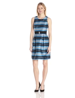 Adrianna Papell - Printed Virtual Silk Sleeveless Dress