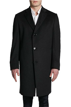 Saks Fifth Avenue BLACK  - Larry Cashmere Long Topcoat