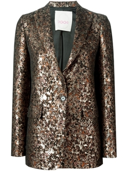 Eggs   - Metallic Jacquard Blazer