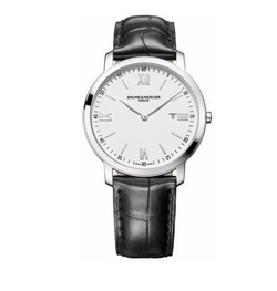 Baume & Mercier - Classima 10097 Stainless Steel & Alligator Strap Watch