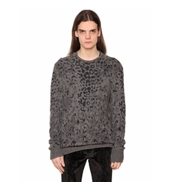 John Varvatos   - Leopard Cashmere Blend Sweater