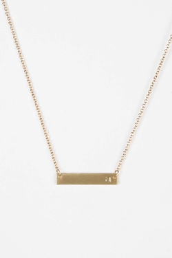 Urban Outfitters - Gold Initial Bar Necklace