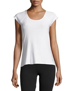 Marika Tek - Cap-Sleeve Ruched-Back Tee Shirt