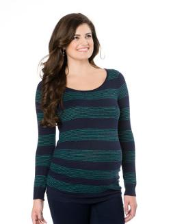 Motherhood - Long Sleeve Side Ruched Maternity Sweater