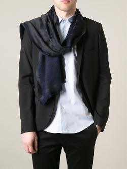 Emporio Armani  - Jacquard logo scarf