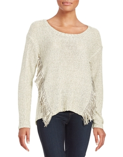 Design Lab Lord & Taylor - Fringe Knit Sweater