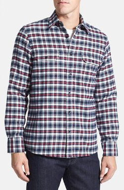 Nordstrom  - Lined Plaid Flannel Shirt