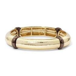 Monet  - Two-Tone Stretch Bangle Bracelet