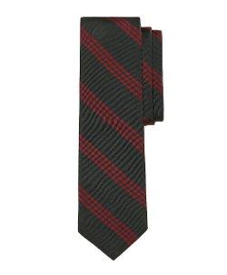 Brooks Brothers - Green & Burgundy Stripe Tie