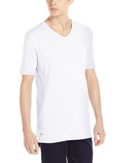 Lacoste  - Cotton Modal V-Neck Short Sleeve T-Shirt