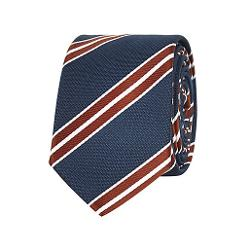 River Island - Navy Diagonal Stripe Tie