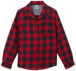 Petit Bateau - Plaid Button Down Shirt