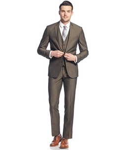 Kenneth Cole Reaction - Sharkskin Vested Suit