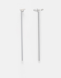 Asos - Long Bar Connecting Swing Earrings