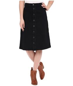Lucky Brand  - High Rise Button Front Skirt