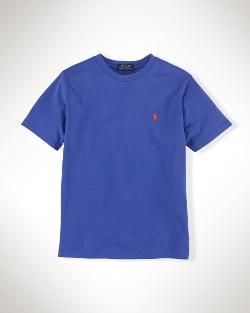 Ralph Lauren - Solid Cotton Crew Neck T-Shirt