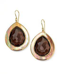 Ippolita  - Ondine Smoky Quartz & Shell Teardrop Earrings