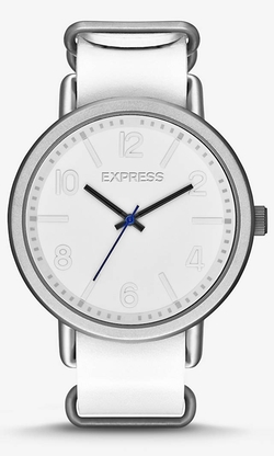 Express - Analog Leather Strap Watch
