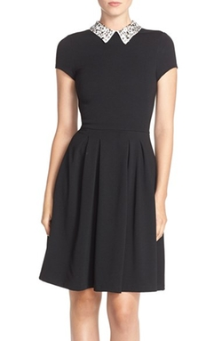 Kut From The Kloth - Embellished Collar Ponte Dress