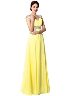 Sarahbridal - Beading Bridesmaid Evening Dress