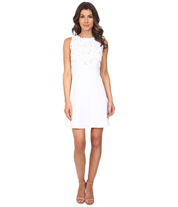 Laundry By Shelli Segal  - Embroidered Fabric A-Line Sheath Dress