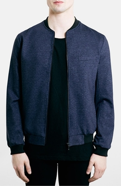 Topman  - Tailored Jersey Bomber Jacket