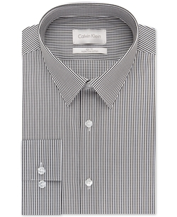Calvin Klein  - Platinum Slim Fit Granite Dobby Stripe Dress Shirt