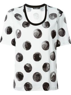 Dolce & Gabbana - Large Polka Dot Print T-Shirt