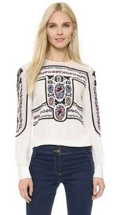 Veronica Beard - Tobie Crew Neck Blouse