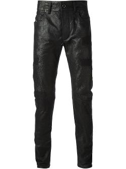 Diesel Black Gold  - Distressed Leather Trouser