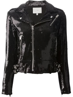 IRO - Sequined Biker Jacket