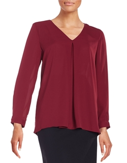 Vince Camuto - Pleated Crepe Blouse
