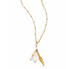 Chan Luu - Opal & Mother Of Pearl Charm Necklace