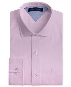 Tommy Hilfiger - Slim -Fit Textured Solid Dress Shirt